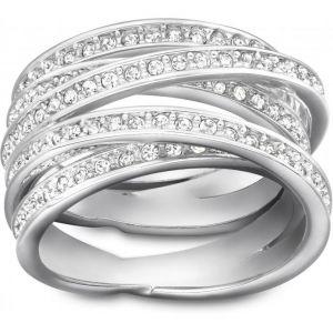 Swarovski Spiral - Bague pour femme en acier et cristaux