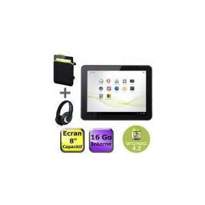 """Memup SlidePad 816DC 16 Go - Tablette tactile 8"""" sous Android 4.2 avec housse et casque"""