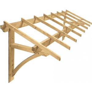 Jardipolys Firenze - Kit auvent structure bois pour porte de garage