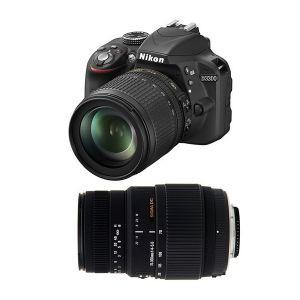 Nikon D3300 (avec 2 objectifs 18-105mm et Sigma 70-300mm)