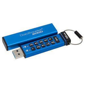 Kingston DT2000/16GB - Clé USB sécurisée DataTraveler 2000 16 Go USB 3.1