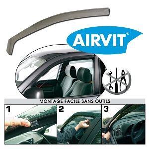 Airvit 202526 - 2 déflecteurs avant (1 droit et 1 gauche) pour Peugeot 3008 5 portes