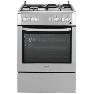 Beko CSE63111D - Cuisinière mixte 3 foyers gaz avec four électrique