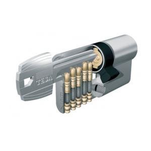 Tesa 50304060N - Cylindre de serrure TE5 100mm (40X60) Varies nickele