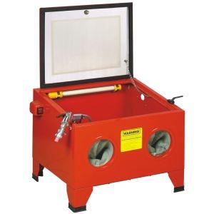 BC-Elec NESB-09 - Cabine de sablage microbilleuse sableuse à manchons 90 litres avec accessoires