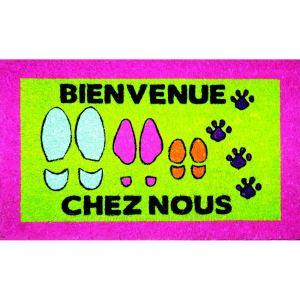Incidence Paillasson design Bienvenue Chez Nous (45 x 75 cm)