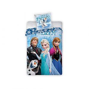 Parure de lit réversible Reine des Neiges Disney (140 x 200 cm)