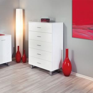 Commode design Adora 5 tiroirs