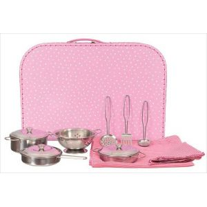 Egmont Toys 540029 - Set de casseroles et passoire en métal