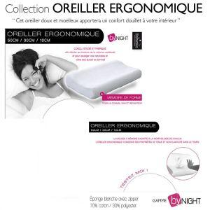 Oreillers ergonomique confort du sommeil (30 x 50 cm)