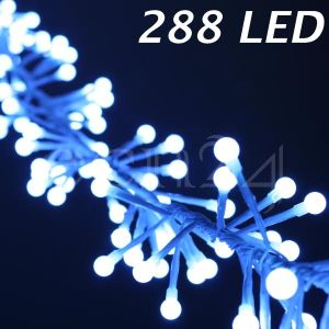 Kaemingk Guirlande mini boules blanches 288 LED