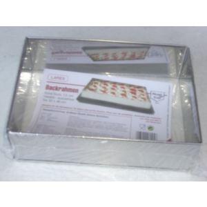 Lares 6025 - Cadre à pâtisserie extensible en inox (25 x 46 cm)