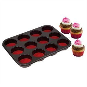 Moule à 12 muffins et cupcakes PushPan fond amovible