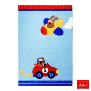 Sigikid Tapis de tapis enfant Happy Street Cars (140 x 200 cm)