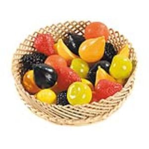 Sachet de 24 fruits en plastique assortis