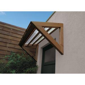 Jardipolys MAR1507 - Auvent 1 pan 3D pour porte d'entrée - 1,55 x 0,70 m
