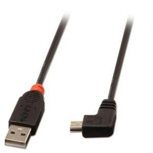 Lindy 31971 - Câble USB 2.0 type A/Mini-B coudé 1 m