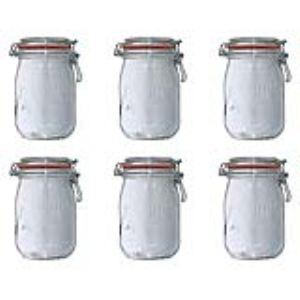 Le Parfait 6 bocaux Super en verre (1 L)