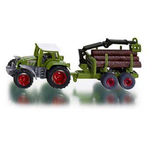 Siku 1645 - Tracteur avec remorque forestière - Echelle 1:55