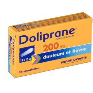 Sanofi Doliprane 200 mg - 10 Suppositoires