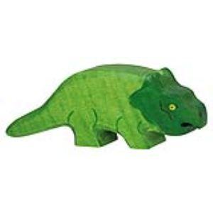 Holztiger Figurine dinosaure : Protoceratops en bois