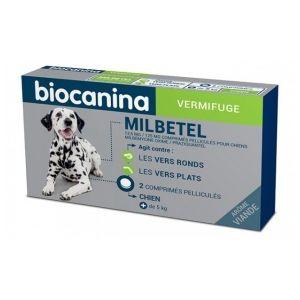 Biocanina Milbetel 12,5 mg/125 mg comprimés pelliculés pour chiens