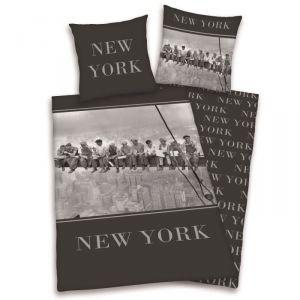 New York Gratte Ciel - Housse de couette et taie (140 x 200 cm)