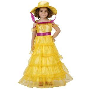 Déguisement robe jaune dame du sud (3-5 ans)