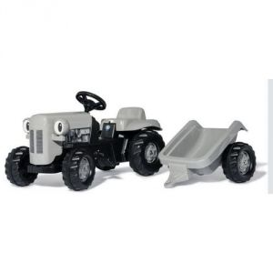 Rolly Toys Tracteur Little Grey Fergie avec trailer