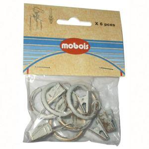 Mobois 6 anneaux pince en métal (23 mm)