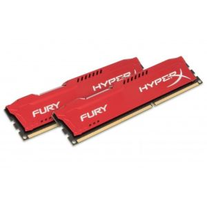 Kingston HX313C9FK2/8 - Barrettes mémoire HyperX Fury 2 x 4 Go DDR3 1333 MHz CL9 DIMM 240 broches