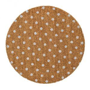 Bloomingville Dots Pois - Paillasson rond en coco
