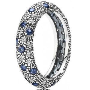 Pandora 190915NBC - Bague bleu nuit pour femme