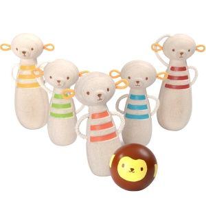 Plan Toys PT5653 - Quilles singes en bois