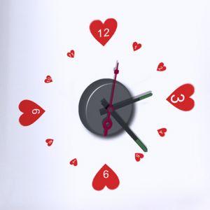 Horloge murale sticker Design Love