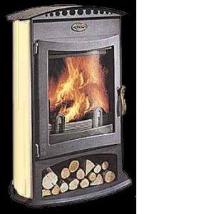 Godin 364104 - Poêle à bois Brulhaut (Porte plate et acier émaillé)