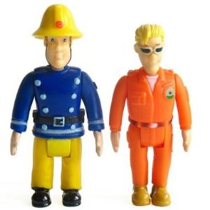 Pack de 2 figurines Sam le pompier : Sam + Tom Thomas
