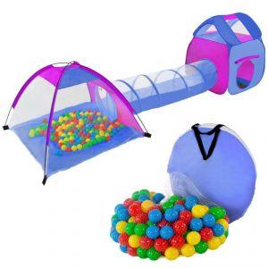 Tente jeux tunnel pour enfant avec 200 balles
