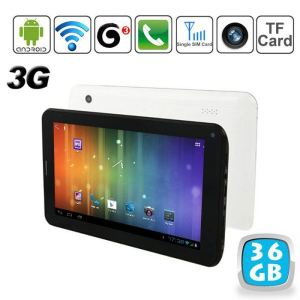 "Yonis Y-tt5g36 - Tablette tactile 7"" 3G sous Android 4 (4 Go interne + Micro SD 32 Go)"