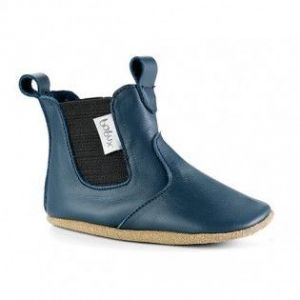 Bobux Soft sole Chelsea Botte bleu marine - Chaussons cuir bébé
