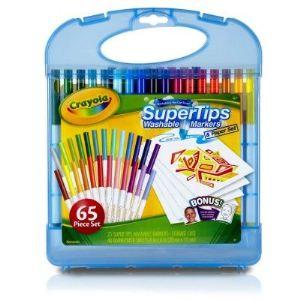 Crayola Mallette de feutres à dessiner lavables