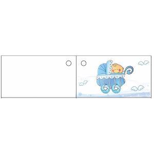 10 étiquettes Landau bleu pour Baptême garçon