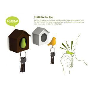 Qualy Boîte à clés Sparrow Key Ring