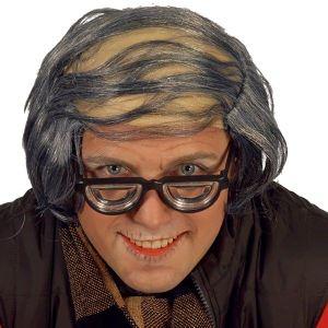 Crâne avec cheveux gris