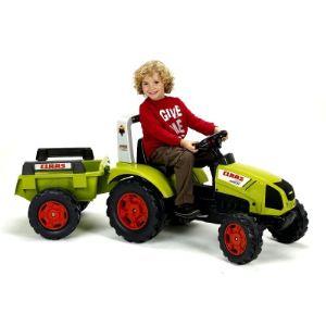 Falk Tracteur à pédales Class Arion 430 avec remorque
