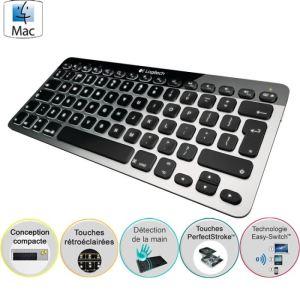 Logitech K811 - Clavier Bluetooth Easy-Switch pour Mac, iPad et iPhone