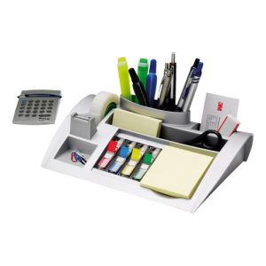 3M Organisateur de bureau C50 avec 1 bloc de notes adhésives(76 x 76 mm)