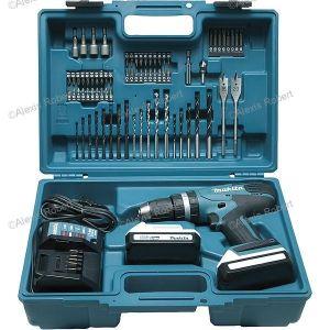 Makita HP457DX100 - Perceuse visseuse à percussion sans fil 18V Ø 13 mm avec kit d'accessoires