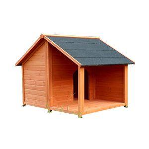 OOGarden Niche pour chien avec terrasse Belle 130 cm