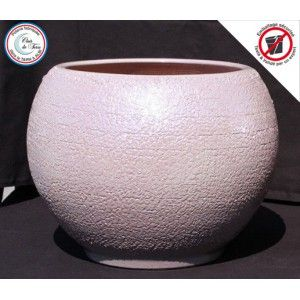 Clair de Terre Aloha - Poterie en terre cuite émaillée forme boule Ø30 x 30 cm